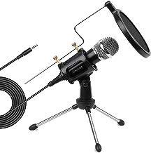 XIAOKOA profesión PC Micrófono, para teléfono, ordenador, iPad, Podcasting, chatear en línea como facebook, MSN, SKYPE