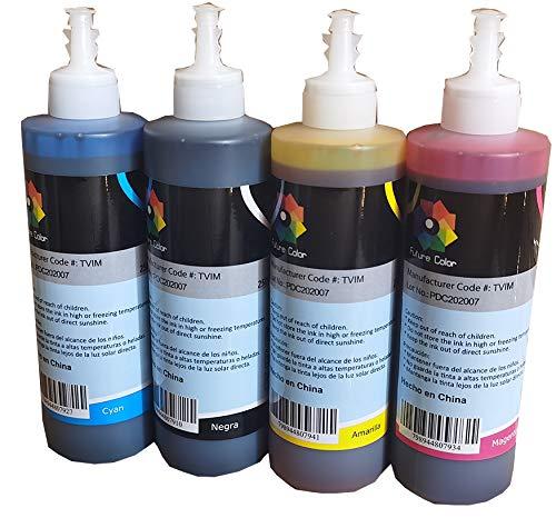 4 Tinta Generica 250 ml L200 L210 L350 L355 L555 L800 L4150 L396 L3110 L 6171 una Tinta por Color...