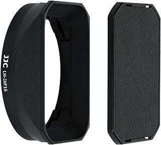 JJC 黑色镜头罩 带帽 适用于 Fujifilm Fujinon XF 16mm F1.4 R WR 镜头替换 Fujifilm LH-XF16