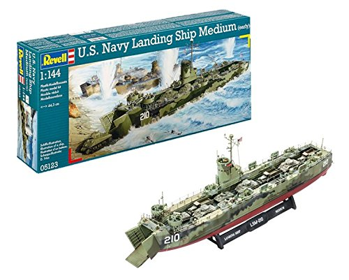 Revell 05123 - U.S.Navy Landing Ship Medium Kit di Modello in Plastica, Scala 1:144