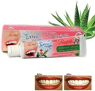 Extra White Isme Rasyan Herbal Clove Toothpaste with Aloe Vera & Guava Leaf 100 g. by Thai Premium