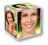 ZEP Cubo con Foto, Acrílico, Transparente, 6 Fotos de 8,5x8,5cm