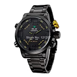 Willow Military Watches Men Luxury Brand Steel Diver Watch Quartz Multifunction LED Display