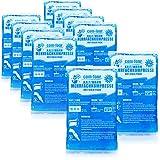 com-four® 10x Bolsa Gel Frio - Compresas frías y Calientes - Bola Frio para Lesiones, 15.5 x 8.5 cm - Apto para microondas (10 Piezas - pequeñas)