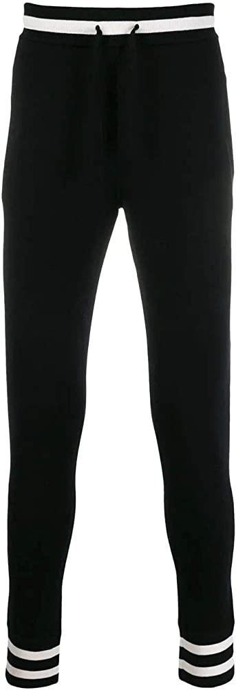 Dolce & gabbana luxury fashion,joggers,pantaloni per uomo,in 98% lana, 2% elastan GX630ZJAVKMN0000