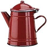 IBILI Kaffeekanne Roja konisch 1 l aus emailliertem Stahl in