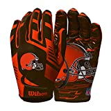 Wilson NFL Stretch Fit Football Gloves - Cleveland-Youth