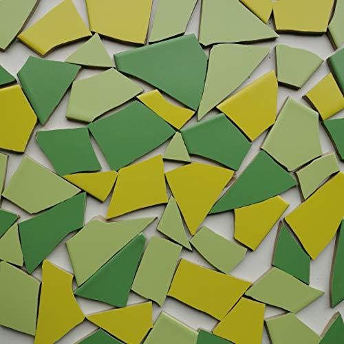 Fliesenbruch frostfest Verschiedene Mixe Mosaik Bruchfliesen (3.5, Grünmix)