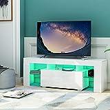 Mueble bajo para TV con apertura sin asas, armario inferior, aparador mediaboard, mueble de televisión, color negro