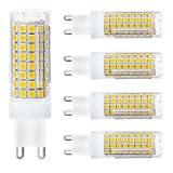 G9 LED Light Bulbs,8W,75W 100W Replacement Halogen Bulbs Equivalent 850lm,Dimmable g9 led Bulbs AC110V 120V 130 Voltage Input,G9 Bi-Pin Base Corn Bulb,G9 Base,Warm White 3000K(Pack of 4)