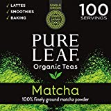 Pure Leaf 100% Organic Matcha Green Tea Powder for Green Tea Matcha Latte, Matcha baking recipes,...