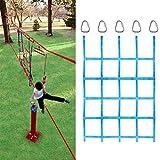 APJJ Red De Escalada para Niños,145×185Cm Red para Trepar, Red De Escalada De Jardín con Hebilla Triangular, Cuerda Trenzada De Nylon, Juego Exterior para Parque Infantil, Mejorar Agilidad Velocidad