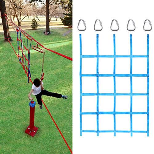 APJJ Kinder-Kletternetz, 145 * 185 cm Kletternetz, Spaß für Ninja-Hindernisparcours Kinder-Hinterhof-Trainingsgeräte Robustes, schlagfestes Treppenschutznetz, maximale Belastung 250 kg