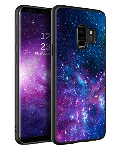 BENTOBEN Samsung Galaxy S9 Case, Slim Fit Glow in The Dark Soft Flexible Bumper Protective Shockproof Anti Scratch Non-Slip Phone Cases Cover for Samsung Galaxy S9 5.8' (2018), Nebula/Galaxy Design