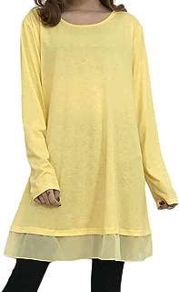 Jojckmen Women Long Sleeve Solid Dress O Neck Loose Spring Autumn Basic Daily Dress