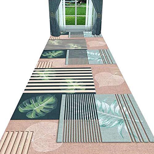 ZENGAI Tappeto Corridoio Passatoia Personalizzabile Moderno Lungo Corridore Elegante Alta qualità, Cucciolo Amichevole, Rosa (Colore : A, Dimensioni : 0.8X3m)
