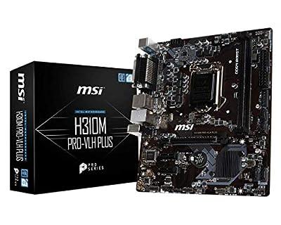 MSI ProSeries Intel Coffee Lake H310 LGA 1151 DDR4 HDMI Onboard Graphics Micro ATX Motherboard (H310M PRO-VLH Plus)
