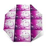 Cool Wallpapers For Girls 防風防水およびUVプルーフ自動三つ折り傘旅行傘軽量パラソル傘男性&女性用日傘