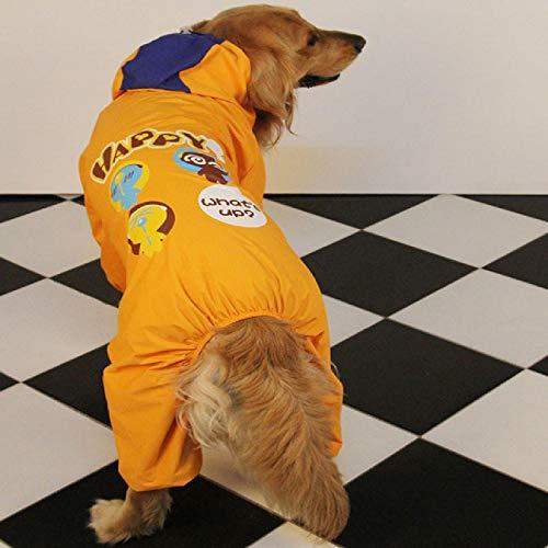 IUOU Impermeablepara Perros GrandesGolden Retriever Labrador Impermeablepara PerrosChaqueta Impermeable con Capucha ImpermeableMono deDibujos Animadospara Perros Grandes Impermeable