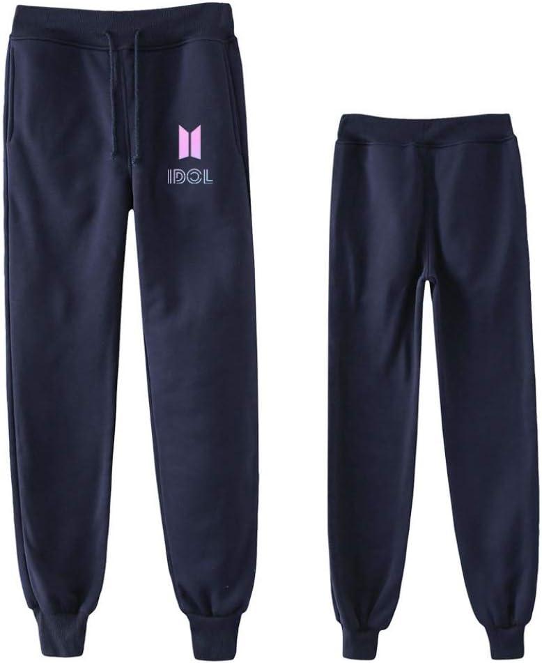 3XL INSTO Pantaloni Della Tuta BTS Stampato Coulisse Jogginghose Casuale Sciolto Pantaloni Unisex Indossando Confortevole//Blau