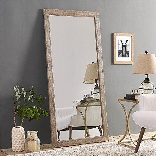 Naomi Home Rustic Floor Mirror Natural/66 x 32'