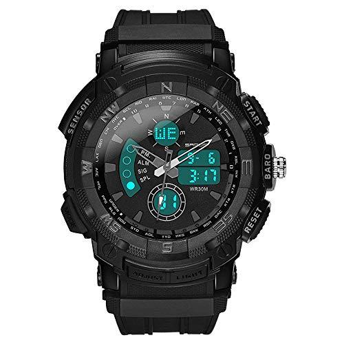 Reloj deportivo impermeable para hombres,reloj electrónico digital analógico militar multifunción para exteriores,relojes juveniles ocio con pantalla doble moda,movimiento electrónico original japonés