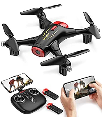 Syma X400 Mini FPV Drones with Camera for Kids and Adults 720P HD WiFi Transmission RC Quadcopter for Beginners with Altitude Hold, Draw Path, 2 Modular Batteries, 3D Flips, One Key Start/Land from