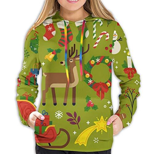 Sudadera con Capucha de Mujer Christmas Design Elements, Vector. Quality Flat Design Xmas Decorative, XL Sudadera