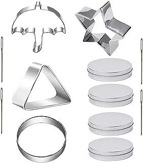 Lot de 12 emporte-pièces en forme de pieuvre en forme de parapluie triangulaire, étoile et parapluie avec aiguilles pour c...