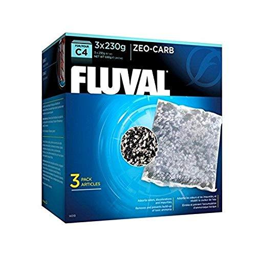Fluval 14019 C4 Zeo-Carb 3 x 230 g, weiß/schwarz
