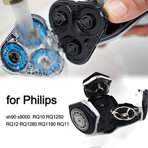 95sCloud Ersatzscherköpfe für Philips RQ12 Shaving Heads RQ1250 RQ1260 RQ1280 RQ1290 RQ1150X RQ1160X Ersatzklinge Ersatzteile Bartschneider Trimmer Blade