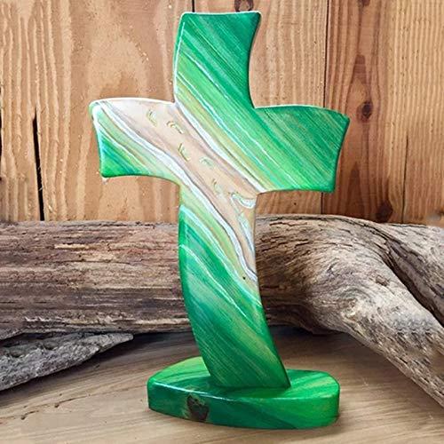 xiangqian Divinely Inspired Wooden Crosses Décoration à suspendre en bois faite à la main inspirée de divin
