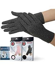 Medisch ontwikkelde artritis handschoenen met volledige vingers/compressiehandschoenen + Dokter's handboek - Verlichting van diverse condities, oa. osteo/reuamtoïde, Raynauds ziekte & carpale tunnel