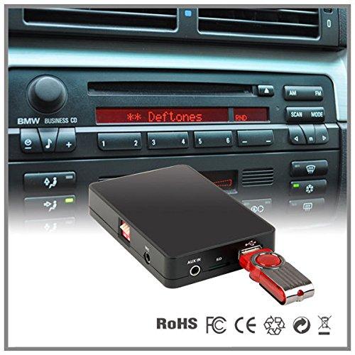 Interfaz adaptador estéreo para USB, SD, MP3 y entrada auxiliar, para el coche, cambiador de CD, interfaz para BMW Serie 5E39Serie 7E38con Radio Business Cassette