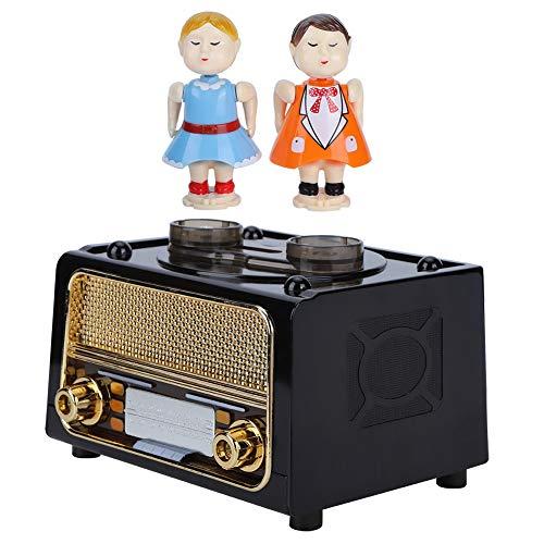 Decoración de Mesa, Caja de música de muñeca de Pareja besándose, plástico con Forma de Radio Retro cumpleaños Adultos para niños