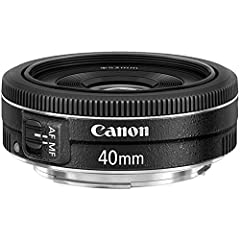 40mm focal length, Lens not zoom able, 64mm equivalent focal length on Canon APS-C cameras Minimum focus distance : 0.30m/11.81 inch, F2.8 maximum aperture; F22 minimum Stepper-type AF motor with full-time manual focusing 52mm filters, Lens Construct...