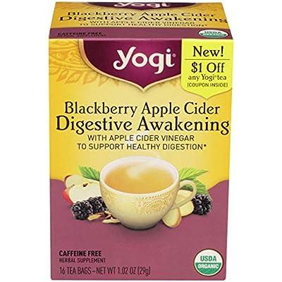 Yogi Tea, Blackberry Apple Cider Digestive Awakening, 16 Count by Yogi Tea