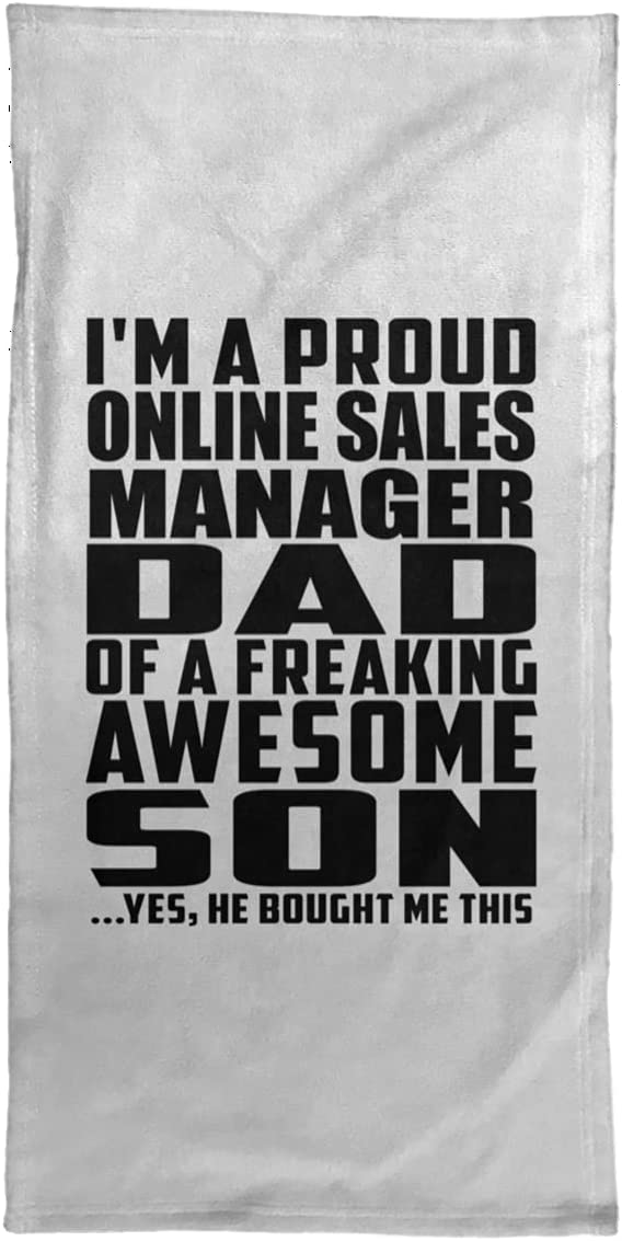 Designsify Proud Online Sales Manager 4 years warranty trend rank Dad Hand - Son Awesome of