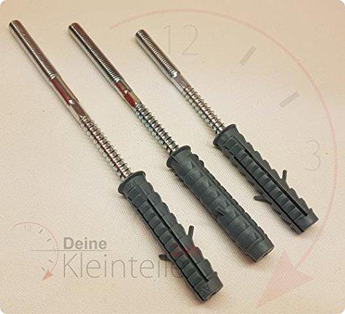 5 Stück Stockschrauben (M8 x 250mm) + Dübel für z.B Rohrschelle