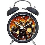 Qi Peng Transformers Bumblebee Optimus Prime Alarm Clock Final Knight Bell Metal Student Cartoon Boy Alarm Clock (Color : B)
