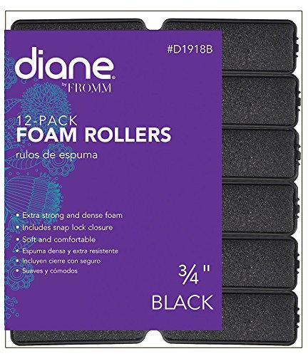 """Diane Foam Rollers, Black, 3/4"""""""