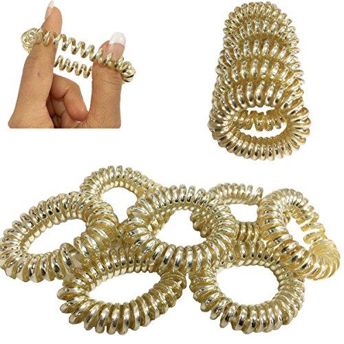Lot de 8 élastiques à cheveux en spirale pour queue de cheval