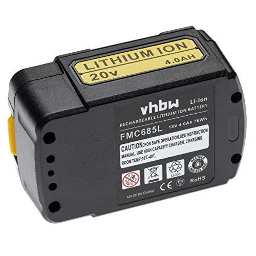 vhbw Batería recargable compatible con Stanley PCCK602L2 herramientas eléctricas (4000 mAh, Li-Ion, 18 V)