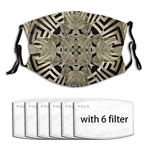 Breathable Material: Made Of Good Quality 100% Polyester Fiber. Equipped With Two Replaceable 5-Layer Activated Carbon Filter, M-Shaped Nose Clamp. Size: One Size, 7.8 X 5.9 Inch. Three Purchase Options: 1 Mask With 6 Filters / 1 Mask With 10 Filters...