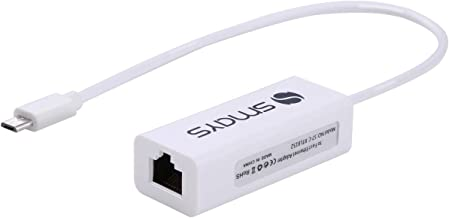Micro USB Ethernet Adapter for Android Windows Tablet, Nexus Player, Dell Venue - Wired LAN Connection