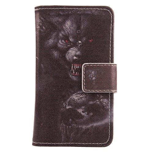 Lankashi PU Flip Leder Tasche Hülle Hülle Cover Schutz Handy Etui Skin Für Doogee Voyager2 Dg310 Bear Design