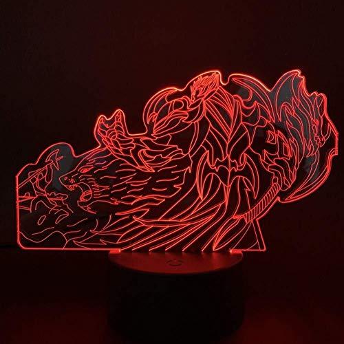 3D Illusion Led Night Light Chambre Décor Veilleuse enfant enfants lampe cadeau capteur tactile 7 couleurs Atmosphere lampe Présent festival lumière de nuit