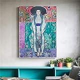 zhuziji DIY Pintar por números Mujer Africana nórdica HD Pintura Imagen Moda Chica decoración Pared arte40x60cm(Sin Marco)