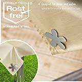 com-four® 4X Tischdeckenbeschwerer - Tischtuchgewichte aus Edelstahl - magnetische Tischtuchklammer - ca. 47 g - 2