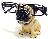 Suporte de óculos para cães de raça Tan Pug